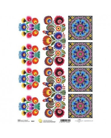 Papel de Arroz Decoupage R847 A4
