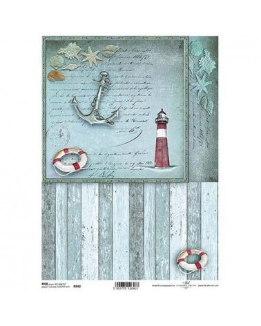Papel de Arroz Decoupage R942 A4