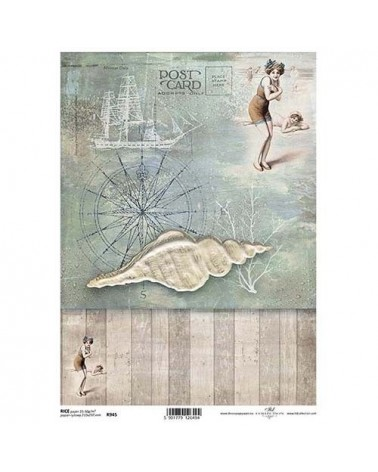 Papel de Arroz Decoupage R945 A4