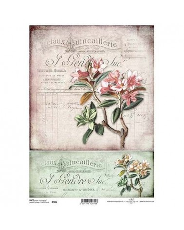Papel de Arroz Decoupage R986 A4