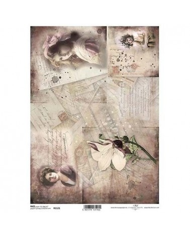 Papel de Arroz Decoupage R1121 A4