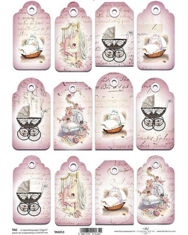 Papel Scrapbooking TAG013 A4