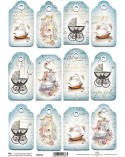 Papel Scrapbooking TAG015 A4