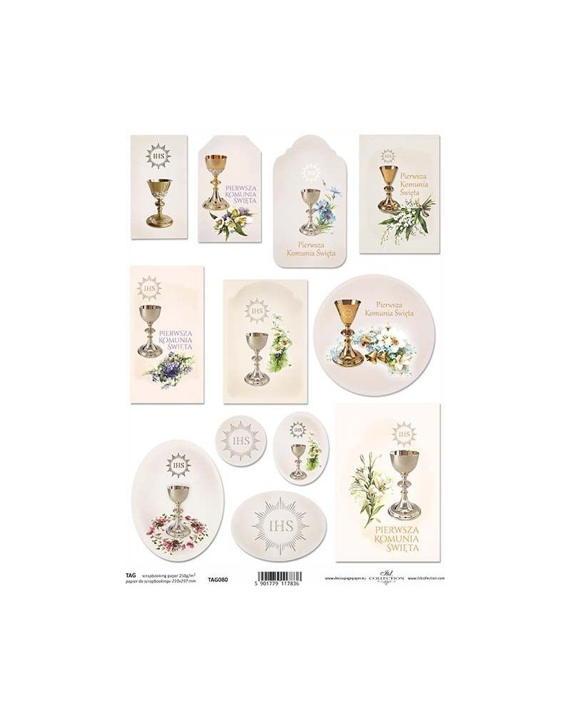 Papel Scrapbooking TAG080 A4