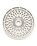 <h2>Soporte Madera 081 Mandala</h2> <p>Mandala / rosetón en madera de chopo de 7mm de grosor. Se pueden usar para decorar, o como posa-vasos o salvamanteles.</p> <ul> <li>(S) 10 x 10 cm</li> <li>(M) 15 x 15 cm</li> <li>(L) 20 x 20 cm</li> <li>(XL) 25 x 25 cm</li> <li>(XXL) 30 x 30 cm</li> </ul>