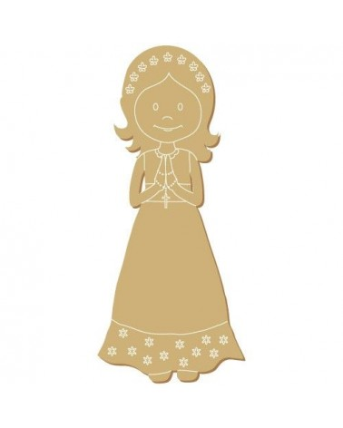 Wood Shape 146 Girl Communion