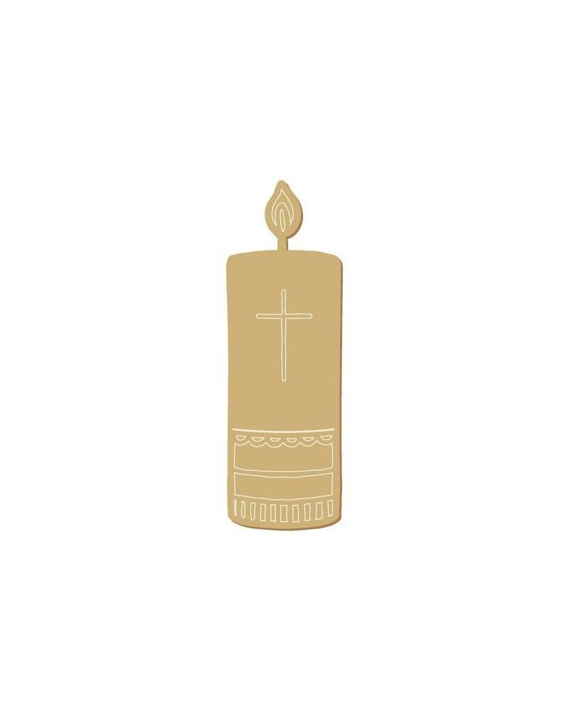 Wood Shape Festivities 043 Candle