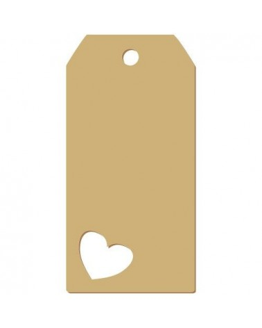 Wood Tag 018 Heart