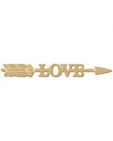 Wood Shape 185 Arrow Love