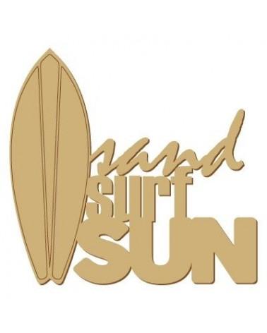 Soporte Cartel Madera 011 Sand surf sun