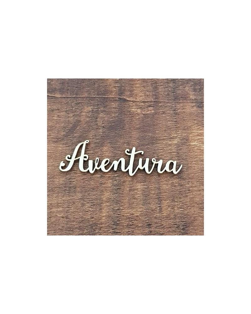 Silueta Texto 011 Aventura - Madera