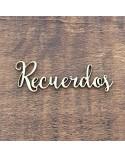 Silueta Texto 020 Recuerdos - Madera