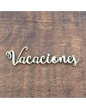 Silueta Texto 023 Vacaciones - Madera