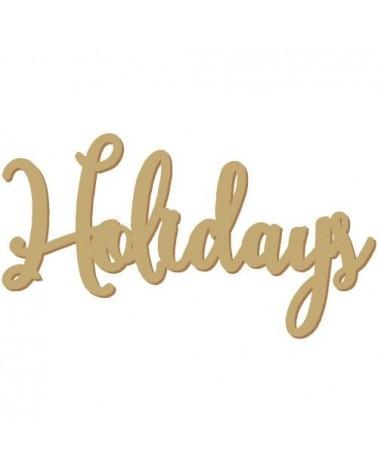 Silueta Texto 024 Holidays