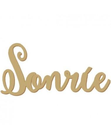 Silueta Texto 026 Sonrie