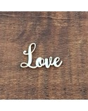 Silueta Texto 031 Love - Madera