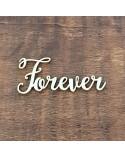Silueta Texto 034 Forever - Madera