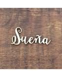Silueta Texto 036 Sueña - Madera