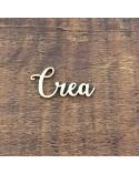 Silueta Texto 039 Crea - Madera