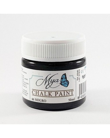 Pintura Chalk Paint MYA 46 Negro 50ml