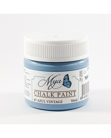 Pintura Chalk Paint MYA 47 Azul Vintage 50ml