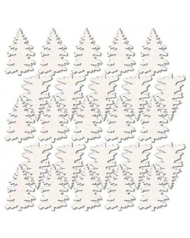 Set Siluetas Cartón 024 Árboles Navidad