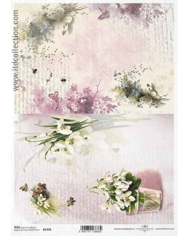 Papel de Arroz Decoupage R1358 A4