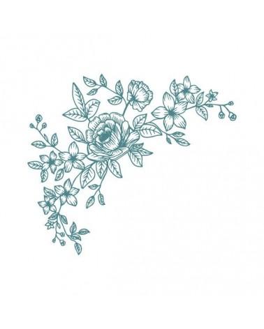 Sello Caucho Mya 0071 Esquina Floral