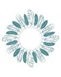 sello de caucho mya 0034 marco de plumas