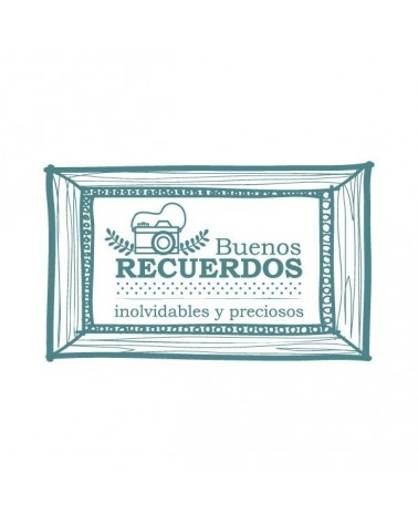 Sello Caucho Mya 0039 Buenos Recuerdos