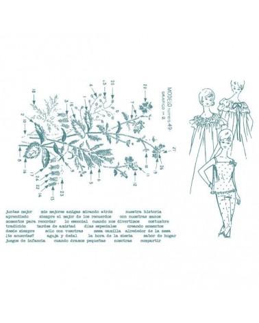 Sello Caucho Aurora Almunia 006 Composición