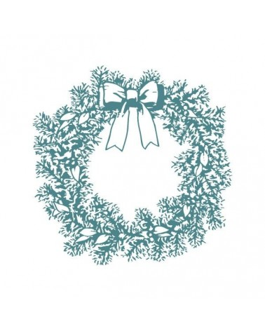 Sello Caucho Mya 0061 Corona De Navidad