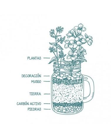 Sello Caucho Mya 0050 Jarrón Floral