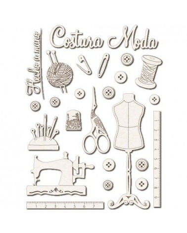 Chipboard Silhouettes set 025 Dressmaking