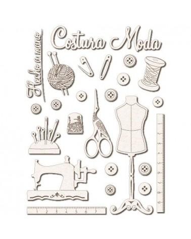 Set Siluetas Cartón 025 Costura
