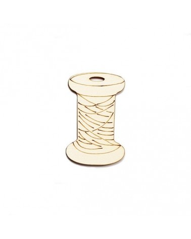 Wood Silhouette Figure 201 Spool Thread
