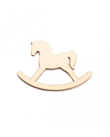 Wood Silhouette Figure 204 Horse Seesaw