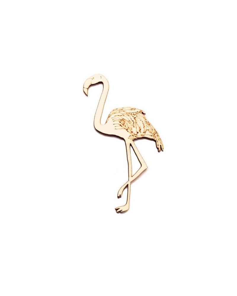 Wood Silhouette Figure 205 Flamingo