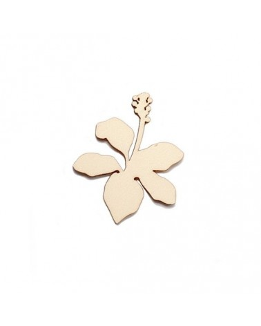 Wood Silhouette Figure 206 Tropical Flower