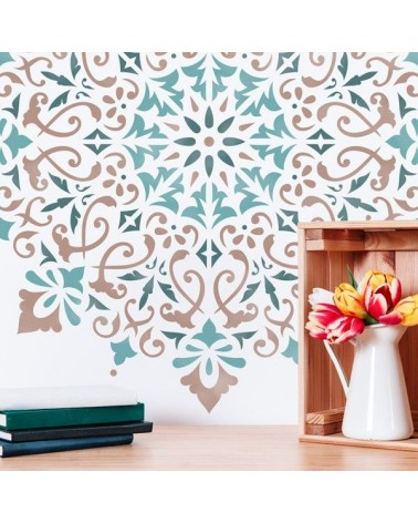 Stencil Home Decor Roseton 015 Mandala