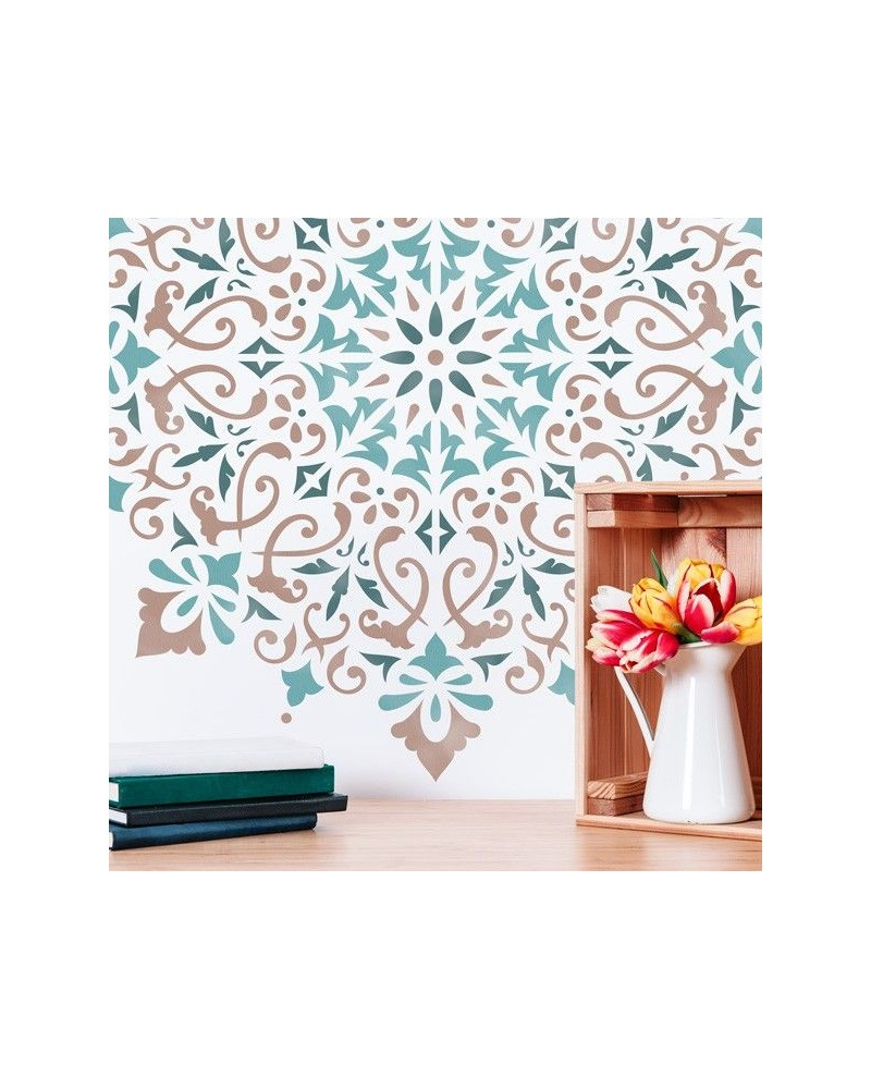 Stencil Home Decor Roseton 015 Mandala - 2