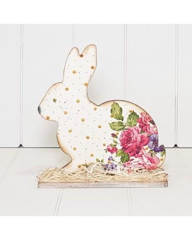 Soporte Madera 089 Conejo Pascua