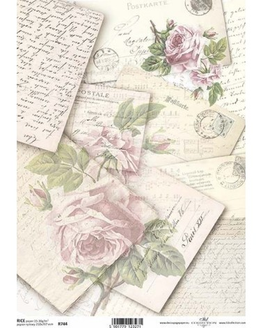 Papel de Arroz Decoupage R744 A4