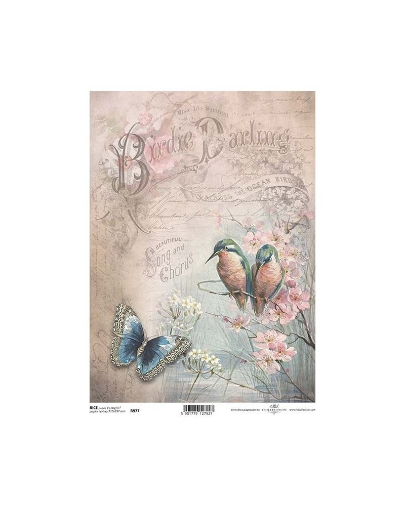 Papel de Arroz Decoupage R977 A4