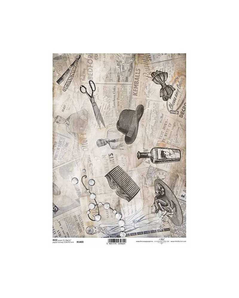 Papel de Arroz Decoupage R1400 A4