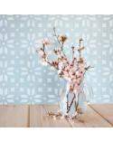 <p>Plantillas de gran formato para la decoración de habitaciones, paredes, techos, muebles, cortinas, alfombras, cojines, etc</p> <ul> <li>(S) 50 x 50cm - Diseño 47 x 47cm</li> <li>(M) 50 x 70cm - Diseño 47 x 65cm</li> <li>(L) 60 x 90cm - Diseño 57 x 79cm</li> </ul>
