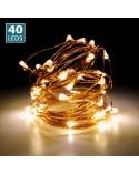 <p>Tira de cobre con 40 luces led ideal para decorar nuestras lamparas DIY así como otros kits DIY.</p>