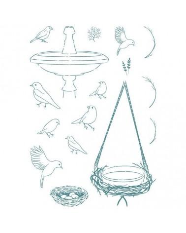 Sello Caucho Mya 0107 Set Pájaros 16Un