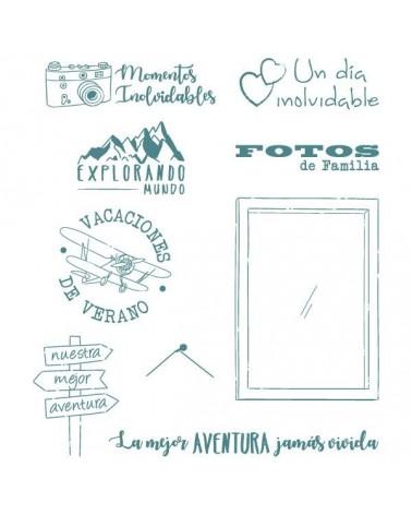 Sello Caucho Mya 0112 Set Viajes 9Un