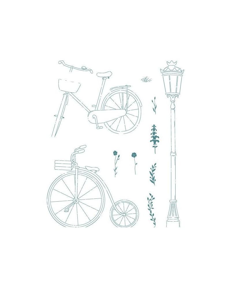 Sello Caucho Mya 0129 Set Bicicletas 10Un